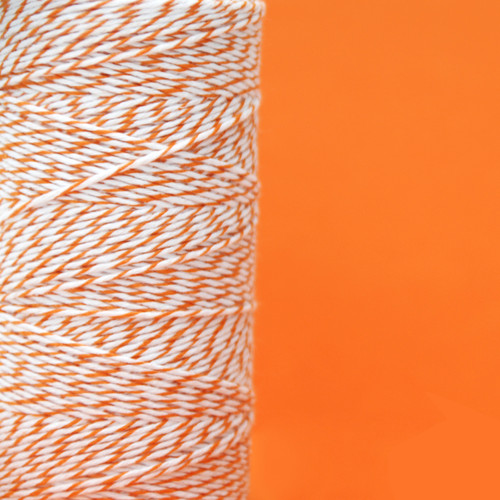 Orange Bakers Twine made of cotton for Gift Wrap, Favours and Craft Projects