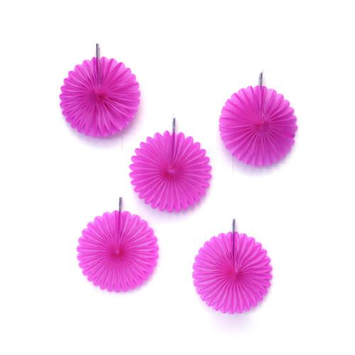 Pink Paper Fan Set Party Decorations