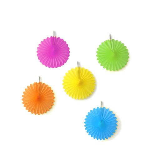Rainbow Paper Fan Set Party Decorations