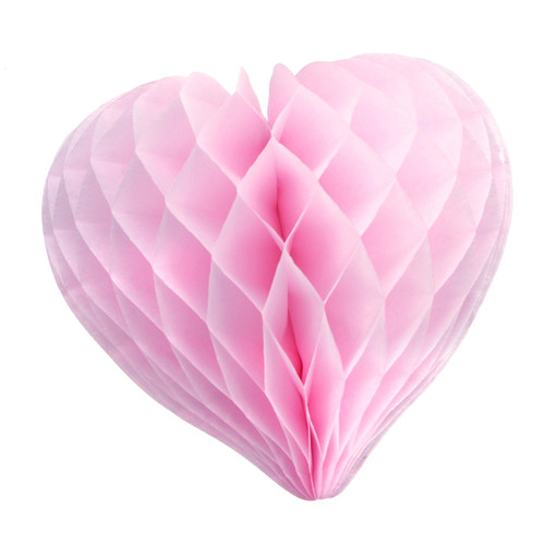 Beautiful light pink paper heart decoration for weddings and hen parties