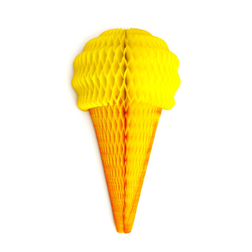 Banana Ice Cream Cone Paper Honeycomb Party Decoration