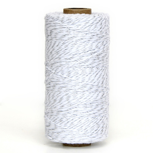 Silver glitter twine bakers twine for wedding favours, craft projects and gift wrap