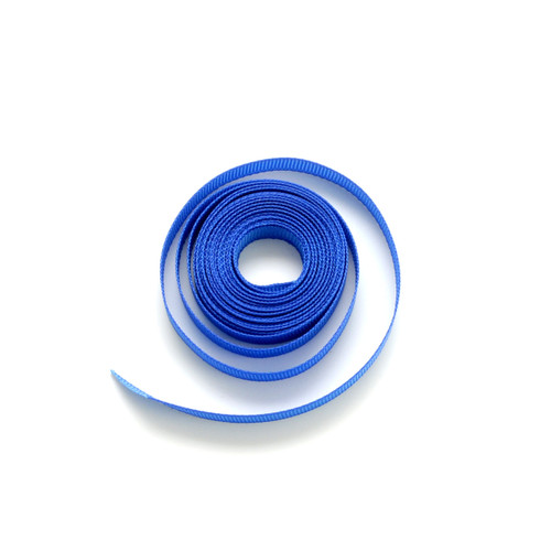 Blue luxury grosgrain ribbon for wedding favours, craft projects and gift wrap