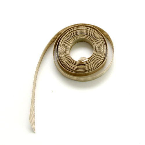 Beige luxury grosgrain ribbon for wedding favours, craft projects and gift wrap
