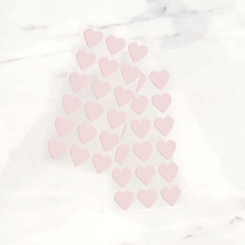 Light Pink Heart Stickers