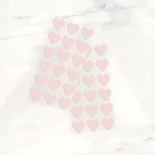 Light Pink Heart Stickers