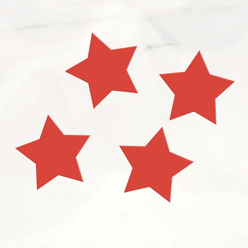 Stylish red star stickers for wedding favours, gift wrap labels and craft projects