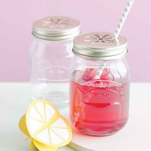 Glass kilner jars for summer cocktails, rustic wedding decoration or for smoothies