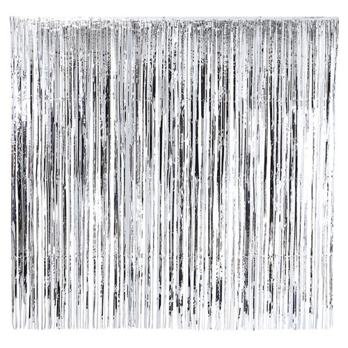 Silver Metallic Curtain