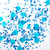 Blue frost mix tissue paper party confetti