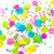 Candy pop blue, pink, yellow and green mix tissue paper party confetti