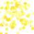 Yellow tissue paper confetti for birthday parties, weddings and tropical celebrations