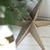 Silver Glitter Paper Star Decorations