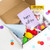 Birthday party in a box sent direct to the recipient for a socially distanced virtual birthday surprise