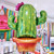 Cactus foil helium balloon for tropical summer parties and mexican fiestas