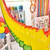 Rainbow Paper Garland Party Decoration for Tropical Summer Themed Birthday Parties