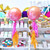 Lava Ombre Orb Helium Foil Balloon Party Decoration for Tropical Summer Themed Venue Decor
