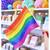 Brighton Pride rainbow flag for waving