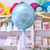 Personalised Pastel Blue Orb Balloon delivered inflated with helium