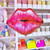 Kiss Lips Valentines romantic foil party balloon decoration for hen parties