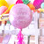 Personalised pastel pink orb balloon delivered in a box direct to the recipient