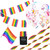 Pride Rainbow Party Decoration Kit with streamers, bunting, face paint, flag and balloons
