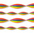 Rainbow stripe crepe paper streamers decoration for Pride parties and celebrations