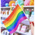 Rainbow stripe flag for Pride parties and celebrations