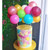 Custom mix of colours balloon cake topper kit to decorate your birthday party cake