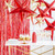 Metallic Red Paper Star Party Decoration for Christmas Home Decor