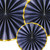 Navy Paper Fan Set Party Decoration for Birthdays and Wedding Venue Decor