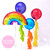 Rainbow birthday balloons for childrens birthday parties and colourful celebrations delivered inflated