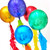 Rainbow birthday party balloons delivered to you or a loved one for a gift or surprise celebration