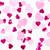 Romantic pink heart mix tissue paper party confetti