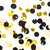 Black white ivory and gold mix tissue paper party confetti