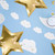 Mini Cloud Bunting Party Decoration for Birthdays, Baby Showers and Nursery Decor
