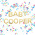 Personalised Baby Shower Glitter Garland for baby showers, gender reveals and new mum to be celebrations