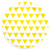 Yellow Triangle Paper Plates