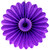 Purple Deluxe Tissue Paper Fan Decoration for Birthday Parties, Weddings, Baby Showers and Hen Dos