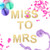 Miss to Mrs Hen Party Glitter Garland Decoration for hen parties, bridal showers and bride tribe celebrations