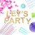 Let's Party metallic glitter garland available in gold or silver for weddings, dessert tables or birthday parties