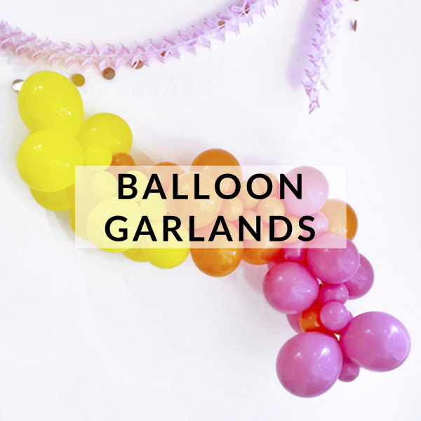 Balloon garlands, arches and clouds make the perfect backdrop or decoration to your party