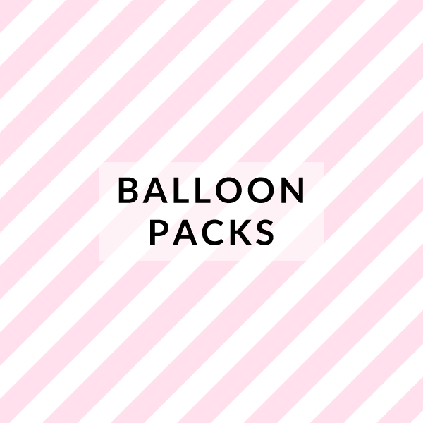 Packs of colourful and fun party balloons for birthdays and celebrations