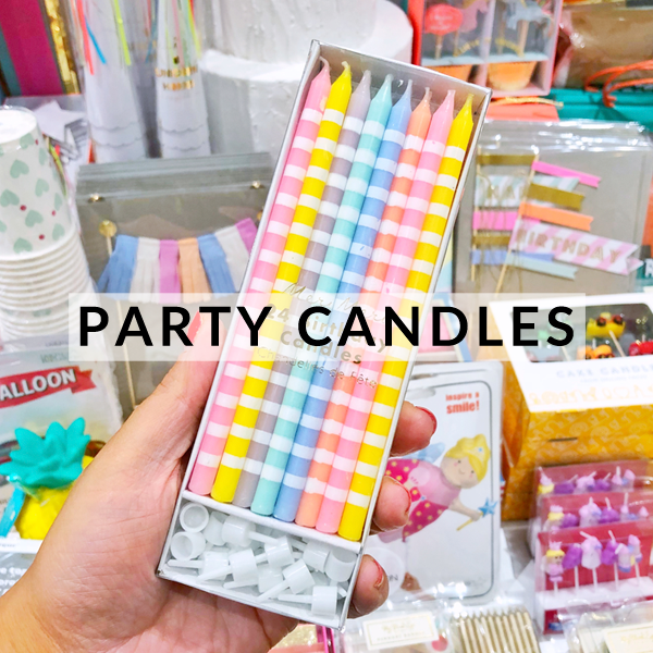 Birthday party cake candles