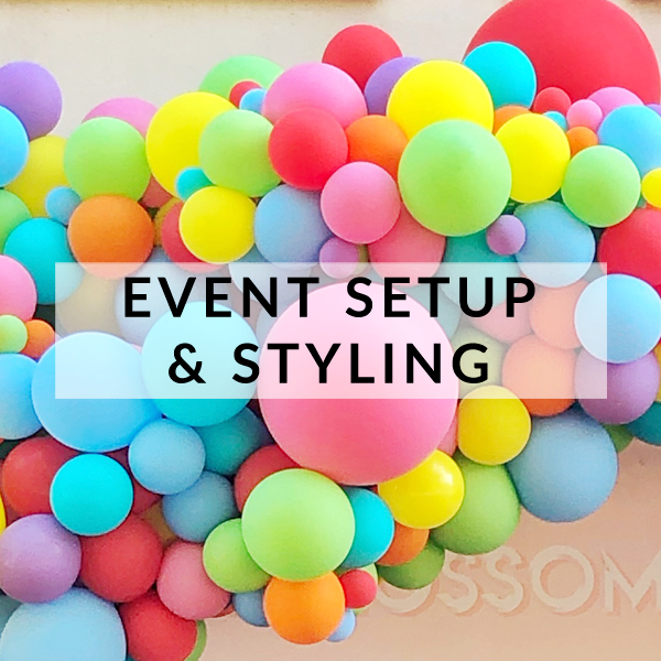 Balloon installations, event setup and party styling in Brighton, Hove and Sussex