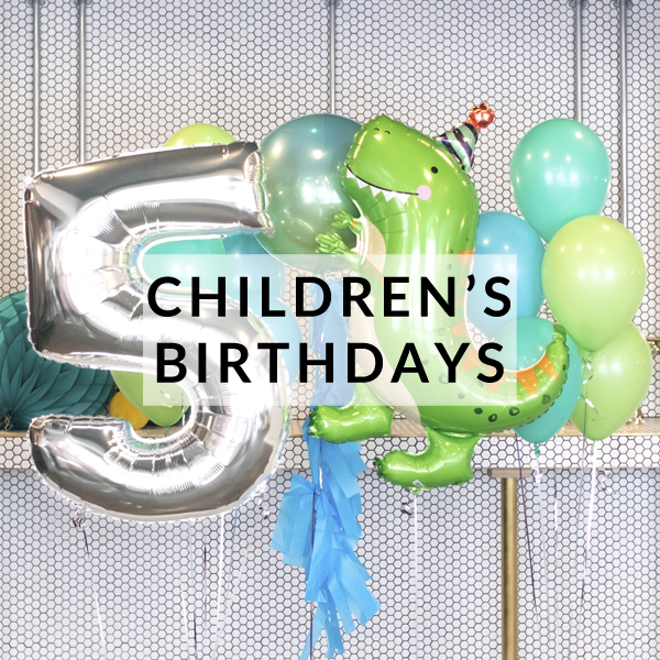 Childrens birthday party helium balloons delivered inflated with helium for birthdays, gifts and parties