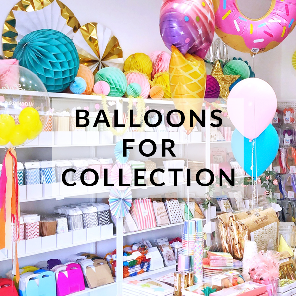 Collect your balloons from our Brighton party store