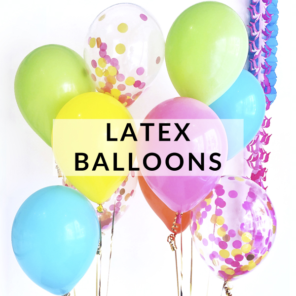 Latex party balloons for kids birthdays, baby showers and hen dos