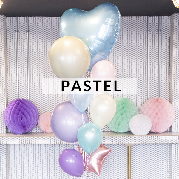 Pastel birthday party balloons delivered to your door inflated with helium