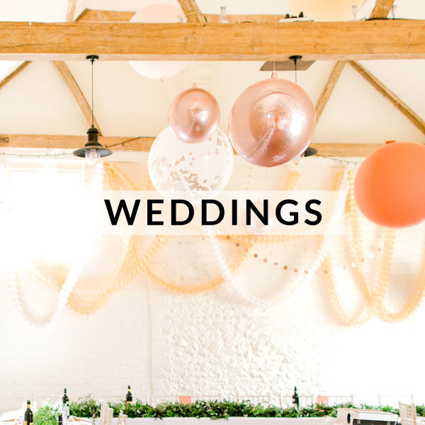 Stylish wedding decorations, supplies, favours and confetti
